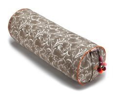 Taupe Feather Round Yoga Bolster