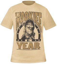 T-Shirt Mec STAR WARS - Chewbacca Wookie Of The Year www.rockagogo.com