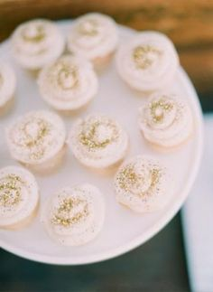 gold glitter cupcakes  for weddings & bridal showers ...