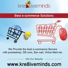 We provide the best #e-commerce service with #prestashop, OS com, Zen cart, Virtue Mart etc.