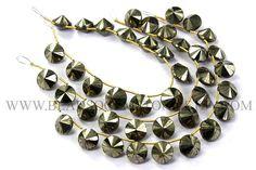 Pyrite Faceted U.F.O Semiprecious Gemstone Beads Double Cut #pyrite #pyritebeads #pyritebead #pyriteufo #ufobeads #beadswholesaler #semipreciousstone #gemstonebeads #beadsogemstone #beadwork #beadstore #bead
