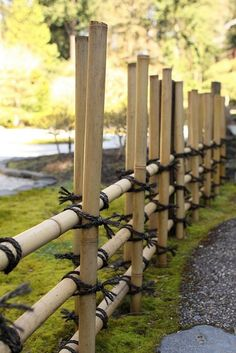 bamboo fence - no nails #japanesegarden