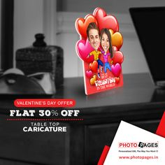 The art of expressing love is through personalised gifts. #ValentinesDay #Gifts #Personalized #Ahmedabad #PhotoPages #Caricature  Click to Gift Table Top Caricatures: http://ow.ly/XzSs4