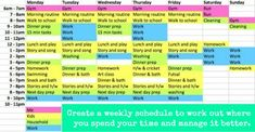 Weekly-Schedule-Time-Management