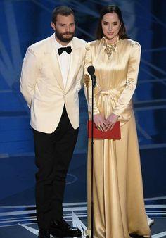 Jamie Dornan and Dakota Johnson at the 2017 Oscars