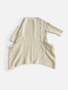 wrinkle linen drop pocket tunic: EveMeva