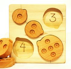 counting ladybugs wooden puzzle // manzanitakids