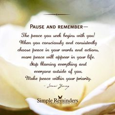 Pause And Remember