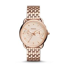 Black Gold Jewelry Fossil Women's Tailor Rose Gold-Tone Stainless Steel Bracelet Watch - With a detailed, multi-link bracelet, the Tailor watch collection from Fossil proves more is always better. Fossil Watches, Cool Watches, Watches For Men, Ladies Watches, Wrist Watches, Stainless Steel Jewelry, Stainless Steel Watch, Fossil Jewelry, Jewelry Watches