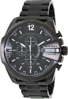 Diesel Maga Chief Black Ion Plated Quartz Men's Watch