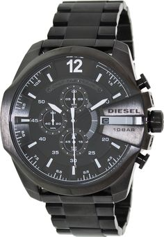 Diesel Maga Chief Black Ion Plated Quartz Men's Watch