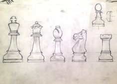 chess+pieces+drawings | First Koa Wood King and Drawing for Staunton Set