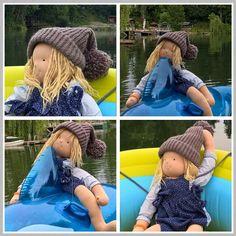 Auch wenn ich diese Mütze schon lange fertig habe, wollte ich sie heute umbedingt noch online stellen. Und ich finde, dass die Fotos echt niedlich geworden sind!
