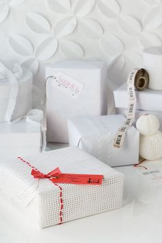 White Christmas wrapping