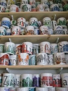 Large collection of Starbucks City Mugs. Do you collect them too?