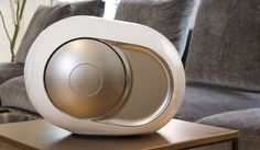 ** DEVIALET PHANTOM IMPLOSION SPEAKER ** The Devialet Phantom Implosion Speaker ($1990) measures 13.8 x 9.8 x 9.8 inches; it has a frequency response of 16Hz to 25Hz. You can't get much bette...