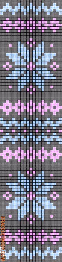 Alpha Friendship Bracelet Pattern #12099 - BraceletBook.com