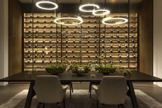 French Interior, Interior Design, Wine Wall, Wine Cabinets, Los Angeles Homes, Celebrity Houses, Dining Area, Dining Room, Dining Table