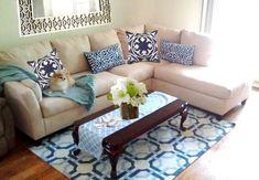 How To Create A Modern Preppy Glam Living Room #nyc #MGdecor