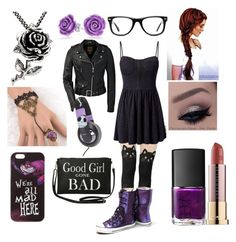 """""""date night2"""" by tiarose99 ❤ liked on Polyvore featuring Converse, Bling Jewelry, Trend Cool, Disney, Muse, Madam Rage, Burton, Ed Hardy, Torrid and Urban Decay"""