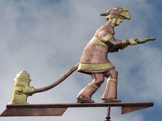 Fireman Weathervane - Custom Design Firefighter, Custom Design, Statue, Boys, Baby Boys, Firefighters, Guys, Sons, Sculptures