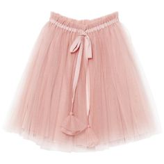 SNOWDROP TUTU SKIRT CHERRY BLOSSOM featuring polyvore, women's fashion, clothing, skirts, elastic waist skirt, pink tutu skirt, tulle tutu, elastic skirt and pink tulle skirt