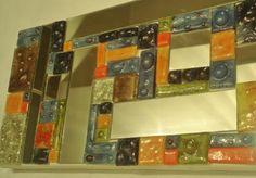 arte decorativo en vitrofusión. tripticos y cuadros esmaltes,vidrio float,espejo vitrofusión Fused Glass, Ideas Para, Iris, Wall, Enamels, Glass Art, Mirrors, Mosaics, Abstract
