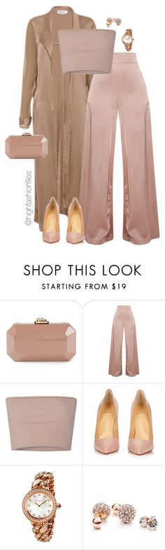 """Sexy in Pants"" by highfashionfiles ❤ liked on Polyvore featuring Serpui, Calvin Klein Collection, Christian Louboutin, Bulgari and GUESS"