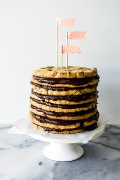 Salted Chocolate Chunk Cookie Layer Cake