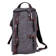 Men's Vintage Canvas backpack Rucksack laptop shoulder travel Hiking Camping bag in Clothes, Shoes & Accessories, Men's Accessories, Bags   eBay