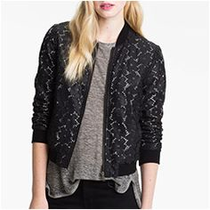 lace bomber jacket images - Google Search