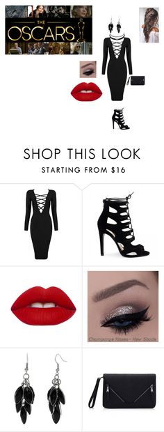 """Simple oscars outfit"" by hellokitty-780 on Polyvore featuring Posh Girl, Lime Crime, Alexa Starr and Charlotte Russe"