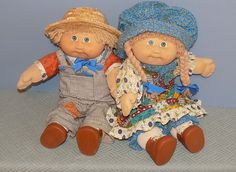 Jesmar Cabbage Patch Custom Holly & Robby Hobbie by asterdaisy on Etsy Vintage Cabbage Patch Dolls, Cabbage Patch Kids Dolls, Vintage Stuff, Vintage Dolls, Ag Dolls, Girl Dolls, Bald Boy, Outfit Creator, Pound Puppies