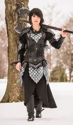 "Women's Leather Armor, by LaGueuse ""The clever combatant imposes his will on the enemy, and does not allow the enemy's will to be imposed upon him."" —Sun Tzu Much like…"