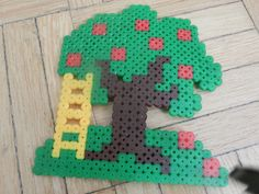 Apple tree hama beads by bebemomo95