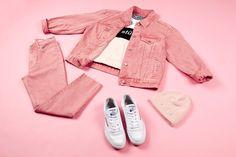 Oversized BF Jacket Venice $129.95 + Tina Mom Crop Venice $99.99 | #generalpants #insight51 #allpink #pinkonpink #reebokclubc #stussytribeaustralia #momjeans #pinkmomjeans #streetwear