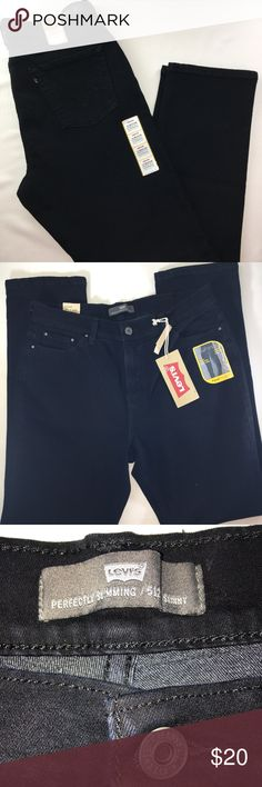 Women's Levi's 512 Skinny Leg/Size16M/Black Levis 512 Skinny Leg/Perfectly Slimming never worn. Jeans in Excellent New Condition! There are no flaws with this item, is free and clear of any noticeable stains, rips, pull of fabric and tears. Overall this pants looks great and you will love it at a fraction of the price! If you notice a flaw that we did not mention, please contact us first before leaving negative feedbacks. We are only human and may make a mistake once in a while. Levi's Pants…