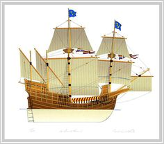 French galleon/carrack from the 16th century