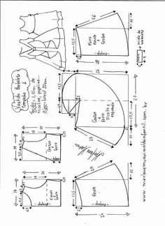 44 Ideas For Diy Kids Dress Pattern Doll Clothes Kids Dress Patterns, Baby Patterns, Clothing Patterns, Sewing For Kids, Baby Sewing, Sewing Blouses, Make Your Own Clothes, Pattern Drafting, Little Girl Dresses