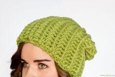 Chunky Willow Tree Slouchy Beanie Crochet Pattern
