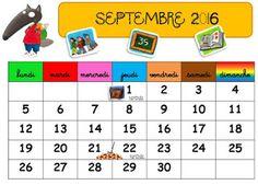 La classe de Sanléane: Une année avec le loup qui ... mais aussi calendrier version Taoki, Ludo et Splat !