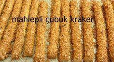 Çayın ve kahvenin yanında çok güzel giden mahlepli çubuk kraker tarifimizi mutlaka deneyin. Tadıyla, mahlebin kattığı aroma ile enfes bir lezzet olan mahlepli çubuk krakere çocuklarınız da bayılacak. #yemek #tarifleri Turkish Snacks, Turkish Sweets, Turkish Recipes, Pastry Recipes, Cookie Recipes, Sesame Cookies, Greek Cooking, Tea Time Snacks, Recipe Mix