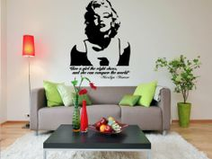 Marilyn Monroe Wall Decal - Give a Girl the Right Shoes and She Will Conquer the World 12x16inches My Vinyl Story,http://www.amazon.com/dp/B00E2UA734/ref=cm_sw_r_pi_dp_aSAftb0HTTXX0ZR7