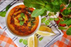 Supa crema de linte rosie cu menta Thai Red Curry, Ethnic Recipes, Food, Essen, Meals, Yemek, Eten