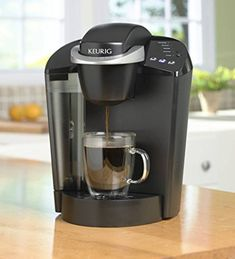 Keurig K55 Single Serve Programmable K-Cup Pod Coffee Maker, BlackK-Cup Pod brew sizes: 6, 8, 10 oz 48.oz water reservoir allows you to brew several cups before having to refill One-touch simplicity with button controls