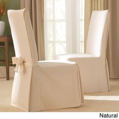 sure fit cotton classic dining chair slipcover sage green