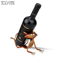 Tooarts Yoga Cat Metal Figurine Craft Wine Holder Wine Shelf Animal Figurine 3D Art Wine Rack For Wine Bottle Office Home Decor ** Want to know more, click on the image. #HomeDecor