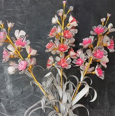 18 Reasons to Love Stripes | Design*Sponge  I need to find a tutorial to make these flowers!!