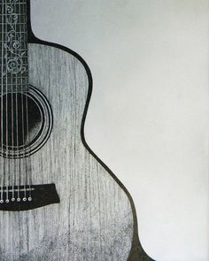 Pen and Ink guitar drawing