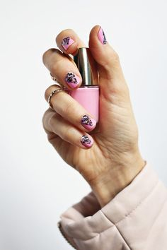 Use nail stickers to